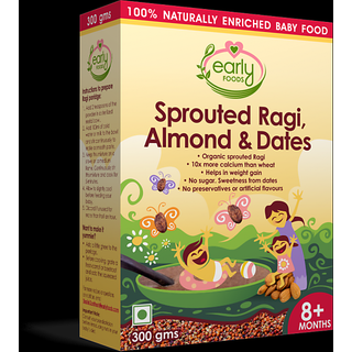 Organic Sprouted Ragi, Almond  Dates