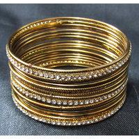 Antic copper colour 18 bangles set