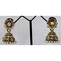 Antic nice flower jhumka earring