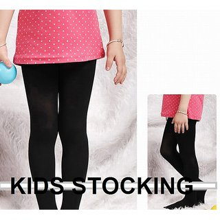 New Girls Kids Footed Tights instockings Legging Ballet Dance Solid Black instocking
