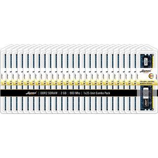 Hynex Desktop DDR2 SDRAM - 2 GB 800 MHZ (Combo Pack of 25)