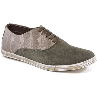 Spunk Men Olive Casual Shoes