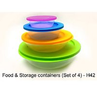 Food Storage Containers Set Of 4 Pcs Microwavable