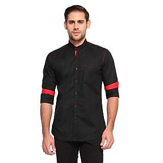 Wajbee 100 Percent Cotton Black Color Full Sleeve Shirt
