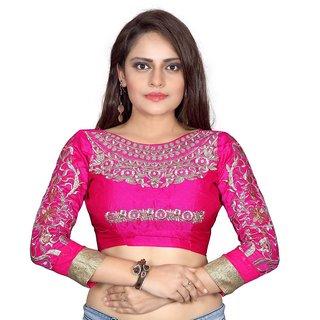 bhuwal fashion designer Pink Cotton Blouses-skype-pink