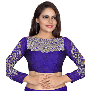 bhuwal fashion designer purple Cotton Blouses-skype-purple