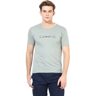 Okane Grey Half Sleeve Round Neck Casual Wear T-shirts