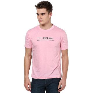 Okane Pink Half Sleeve Round Neck Casual Wear T-shirts