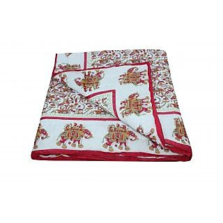 Shop Rajasthan 100 Cotton Jaipuri Lightweight Single Bed Quilt (Srm2105)