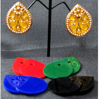 Changeable Multi colour tilak Stud Earring
