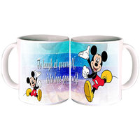 Mickey Says To Laugh Mug By Shopkeeda