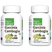 Berry Natural Garcinia Cambogia 60 HCA (500 Mg), 60 Capsules  (Pack Of 2)