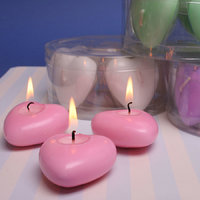 Small Cute Scented Heart Shaped Candles For Gift, (Pack Of 20 Pcs)