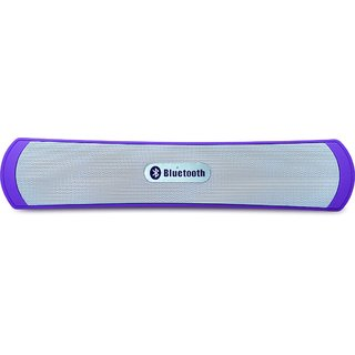 BE-13 FM Bluetooth Wired & Wireless Laptop/Desktop Speaker (Purple, 1.0 Channel)