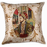 Set Of Three Shahjahan Cushion Cover Throw Pillow