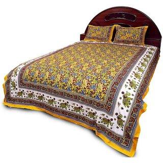 Sudharaj Rajasthani Bright Colourful Double Bed Sheet Set BCA2193