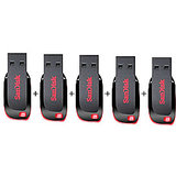 Combo Of SanDisk Cruzer Blade 8 GB Pen Drive (5 Pcs.)