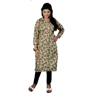 Parisha Gray Printed Cotton Stitched Kurti