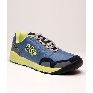 Lee Cooper Men's Blue & Yellow Running Shoes