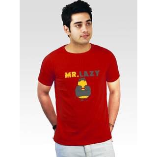 Incynk Men's Mr Lazy Tee (Red)