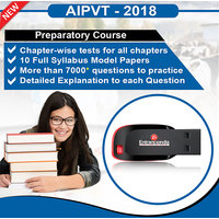 AIPVT 2018 Preparatory Course With 10 Model Papers (Pen Drive)