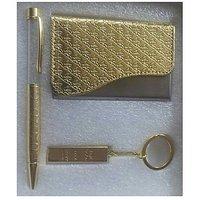 Gift Set - III  (Pen, Bar Keyring, Visiting Card Holder)