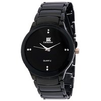IIK Collection Brandad Black Metal Analog Watch With Box