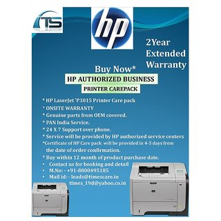 HP Extended Warranty for HP LaserJet P3015 Printer Care Pack