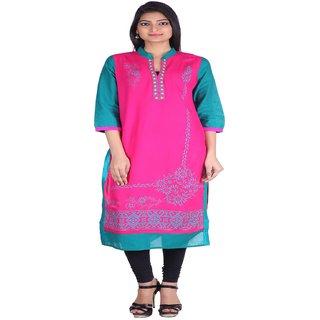 Jaipur Prints Pink Ladies Formal Kurta in Printed Body HC32PINK