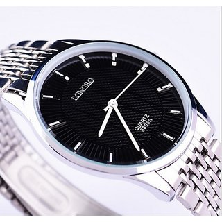 Longbo Super Slim Watches Male Sport Wrist Full Steel Water Resistant Ultra Thin Watches for Men