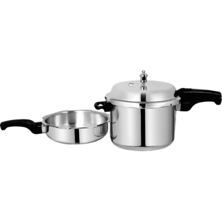 Sumeet Aluminium Pressure Cooker 9 Ltr Pressure Pan 3.5 Ltr