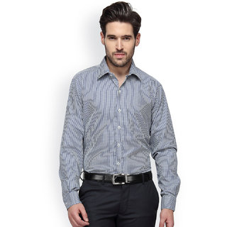 Copperline Formal Yellow Navy Checks Shirt - CPL1146