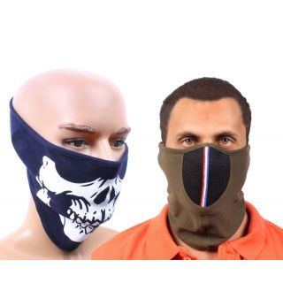 Sushito Set Of Two Pollution Free Biker Face Mask JSMFHFM0555-JSMFHFM0720