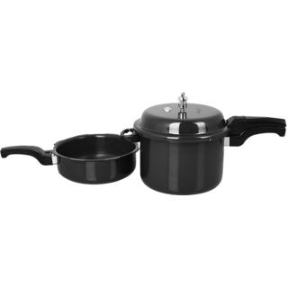 Sumeet Hard Anodised Metalina Pressure Cooker 7.5 Ltr Pressure Pan 3.5 Ltr