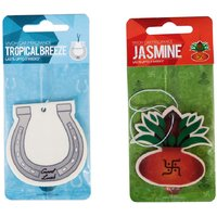 Vivoh Jasmine And Tropical Breeze Paperboard Car Perfume - Set Of 2