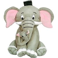 Tabby Toys Cute  Careing Mother Elephant Soft Toy  - 38 cm (Grey)