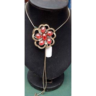 Designer Flower Pendant Chain Necklace Set