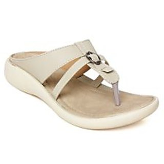 Vendoz Elegant Women Cream Sandals