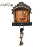 ECraftindia Papier-Mache Key Holder With Lord Ganesha