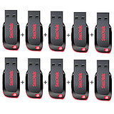 Combo Of SanDisk Cruzer Blade 8 GB Pen Drive (10 Pcs.)