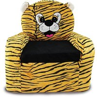 Tabby Toys Animal Theme Tiger Kids Sofa Foam Sofa-50cm(Golden Brown 6 Months -8 Year Kids)