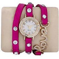 Women Wadding Pink Love Ladies Watch
