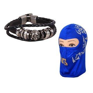 Sushito Black   Wrist Band Combo Full Face Mask JSMFHWB0343
