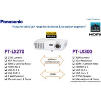 Panasonic PT-LX270EA DLP Projector 2700 Ansi Lumens , XGA 1024x768 Resolution 4000:1 Contrast Ratio HDMI IN X 1 VGA IN X