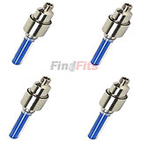 Flashing Flash Wheel Lights (2 x 2 Pcs) For All Cars / Bikes - Blue