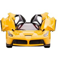 The Flyers Bay Rechargeable Ferrai Style RC Car With Fully Function Doors (Yellow)