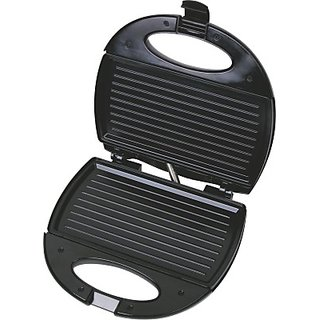 Lifelong Sandwich Panni Maker (112 Large Griller Plate) Grill Toast (Black Stainless Steel)