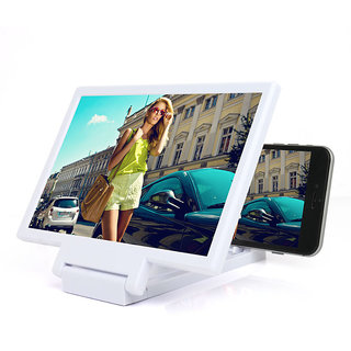 Snaptic Limited Edition White 3D Folding Mobile Phone HD Screen Magnifier