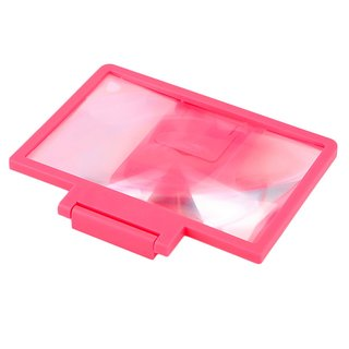 Snaptic Limited Edition Light Pink 3D Folding Mobile Phone HD Screen Magnifier