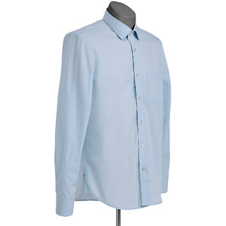 MuHeNeRa Semi Slim Fit Blue Checks Men's Shirt